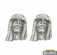 Flash Your Style With Jesus Piece Iced Out Earrings From ...
