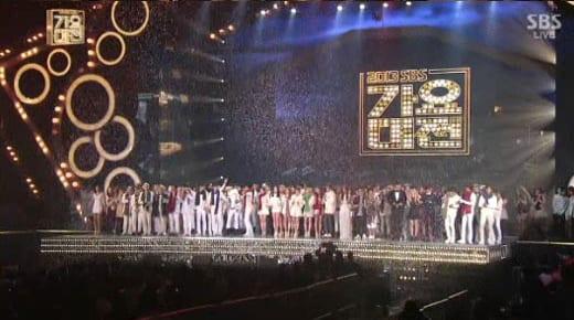 SBS Gayo Daejun 2013 screenshot