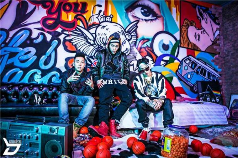 Screenshot of Zico's 'Tough Cookie' MV with Loco, Zico, and Jay Park