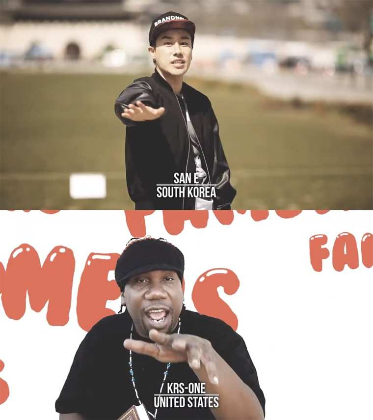 San E and KRS-ONE in #HIPHOPISHIPHOP MV