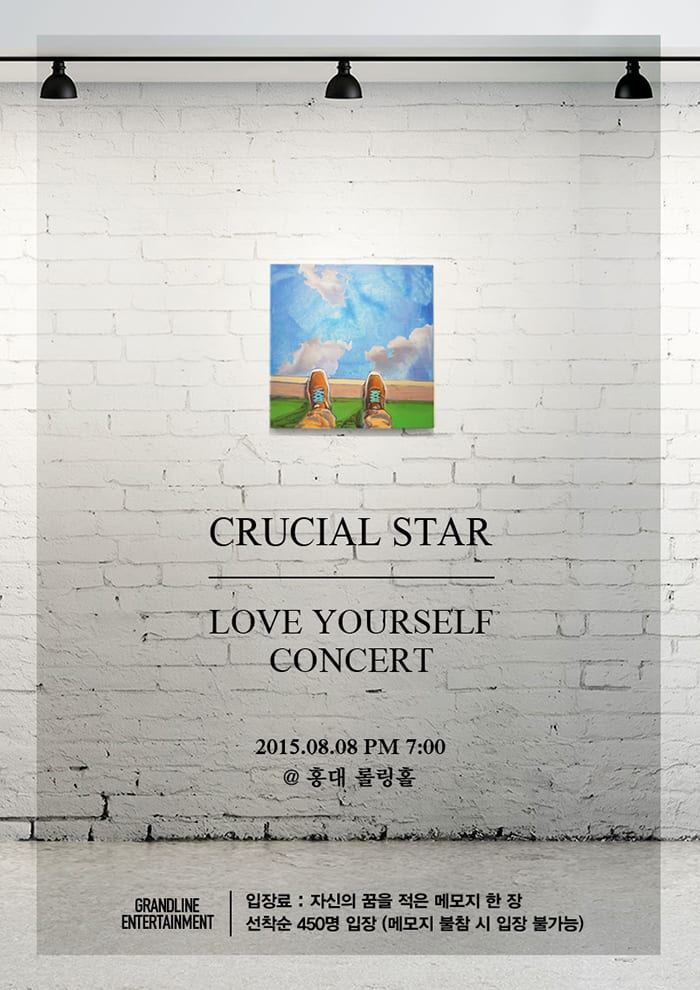 Crucial Star - Love Yourself Concert poster