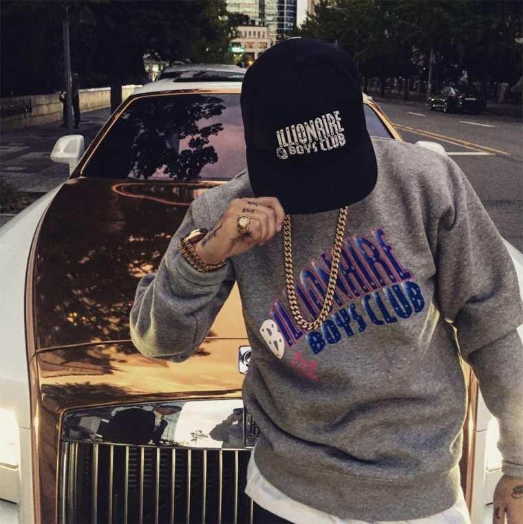 Dok2 wearing BILLIONAIRE BOYS CLUB