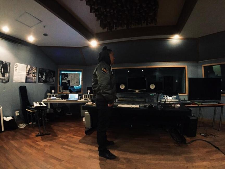 Hwaji in the studio