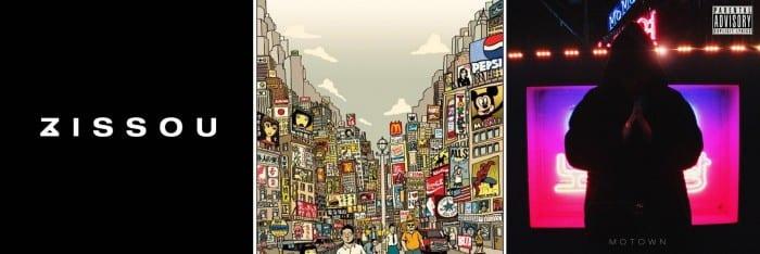 album covers of Hwaji - Narcissist, nafla - Sun Up, Changmo - 내꺼 (Mine)