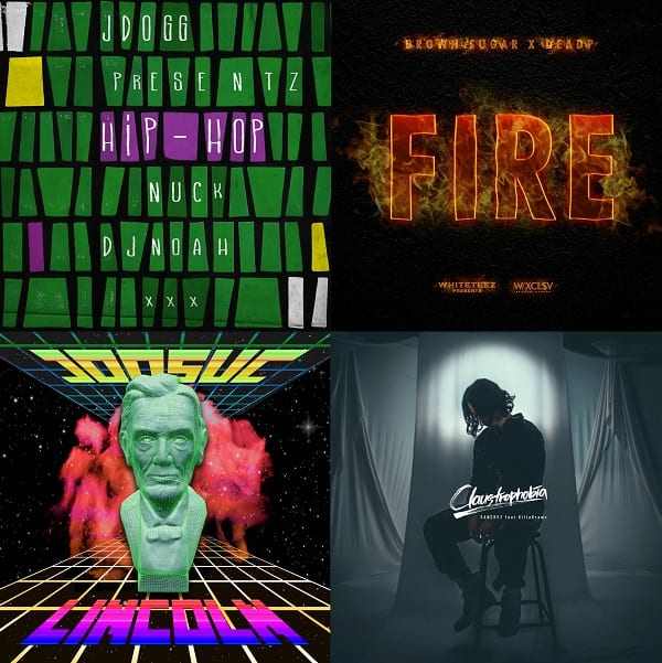 Album covers of Hip-Hop, Fire, LINCOLN, and Claustrophobia