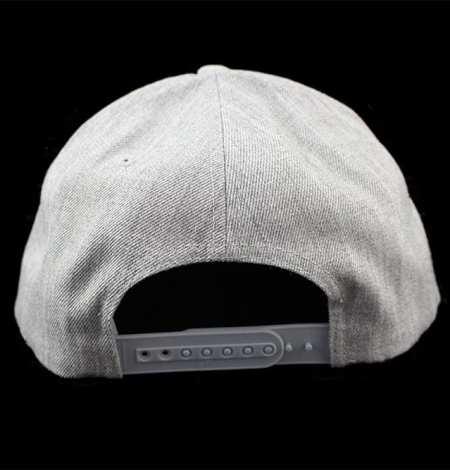Grey snapback back