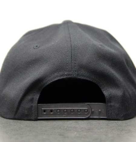 black snapback - back