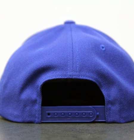blue snapback - back