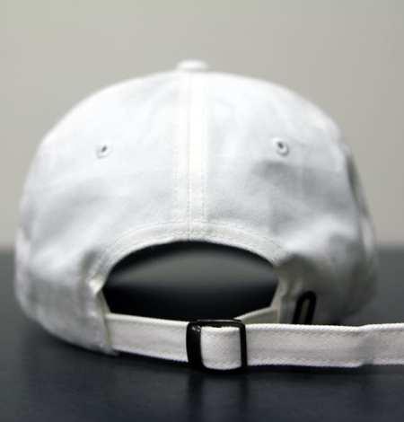 white dad hat back