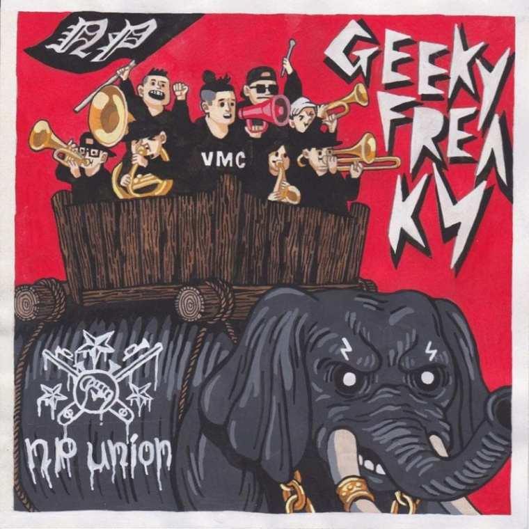 NP UNION - GEEKY FREAK (album cover)