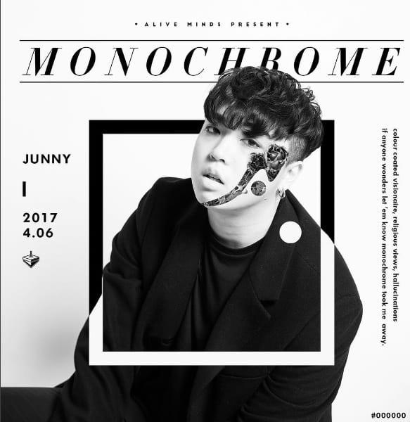 JUNNY - Monochrome (album cover)