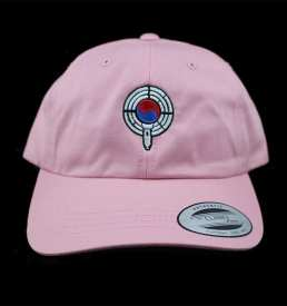pink dad hat front