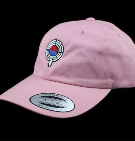 pink dad hat side