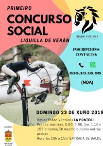 Primer Concurso Social de Salto a caballo de Hípica Prado Ventura en Junio de 2019