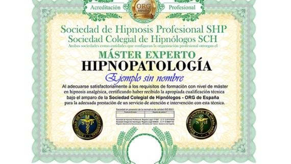 título máster en hipnopatología