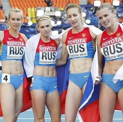 deportistas rusos
