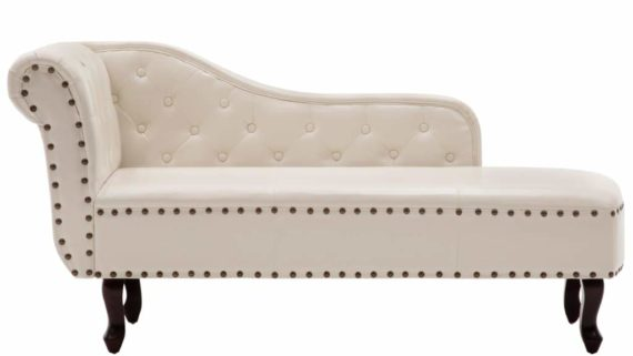 diván clásico para hipnosis blanco crema