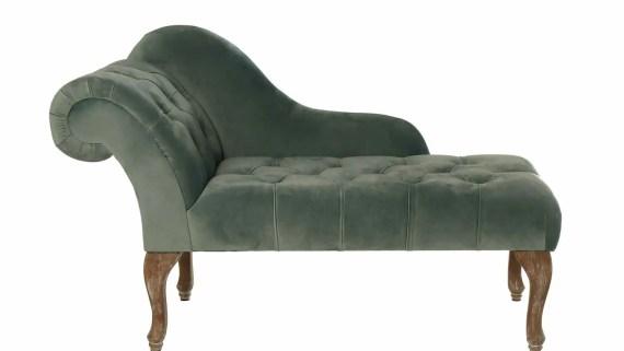 diván clásico para hipnosis de terciopelo