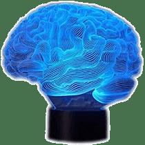 cerebro de cristal con luz