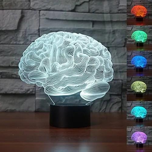 cerebro de cristal iluminado