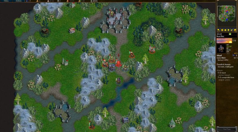 Battle for Wesnoth rozgrywka gameplay screenshot z gry darmowa strategia RPG blog hipogryf.pl
