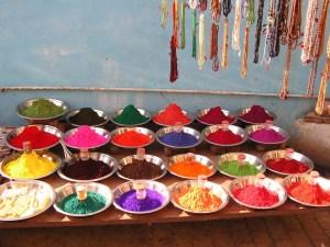 kleurrijke markten India