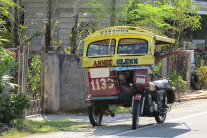 Tricycle in Siquijor de Filipijnen