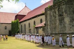 Oude kerk in Lazi op Siquijor Filipijnen