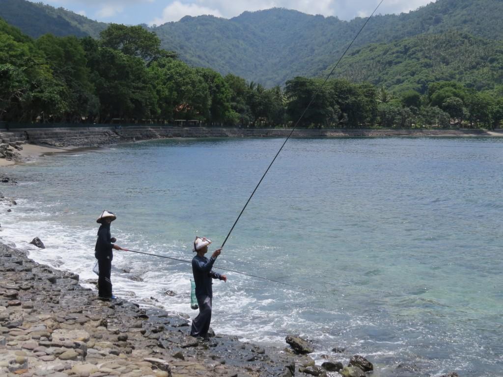 Vissers in Senggigi Lombok