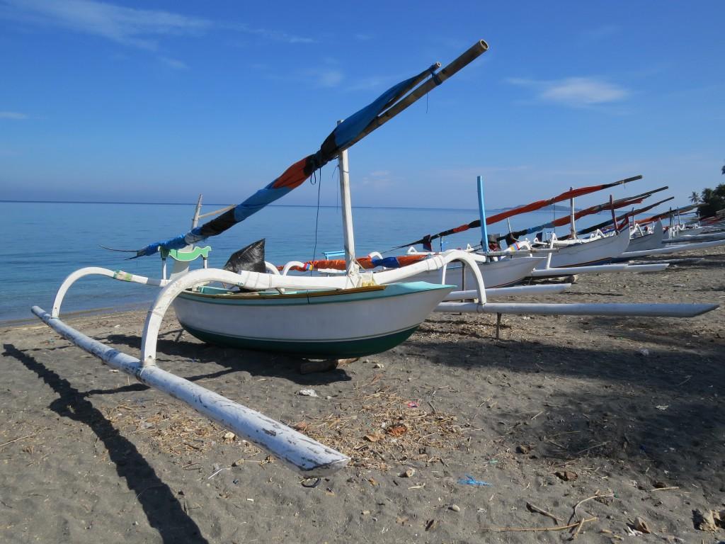 Traditionele vissersboten Lombok