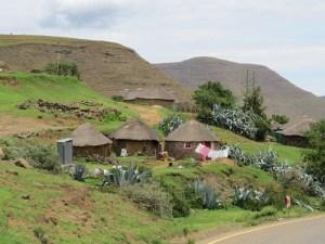 Dorpsleven Lesotho