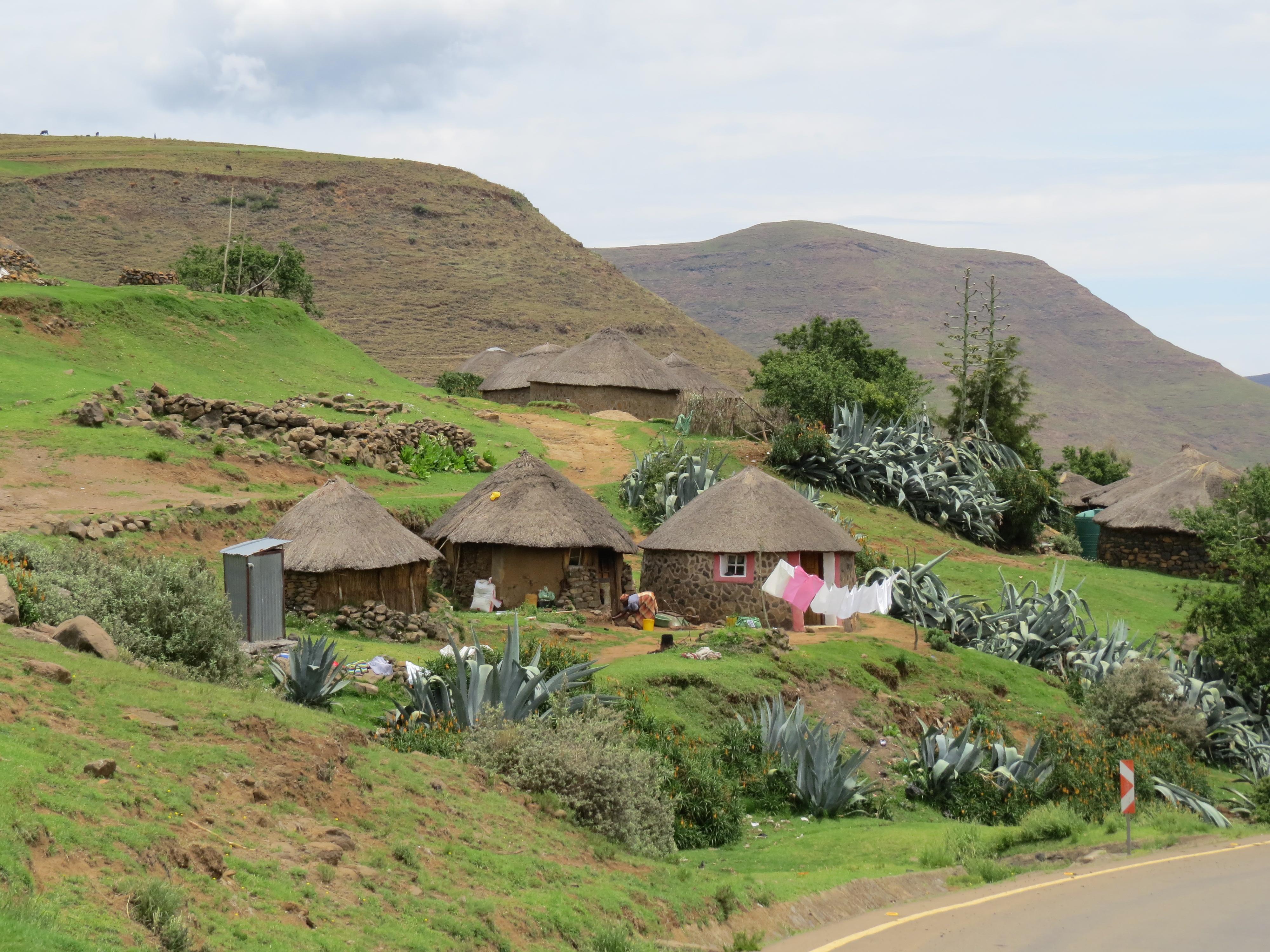 Dorpsleven in Lesotho