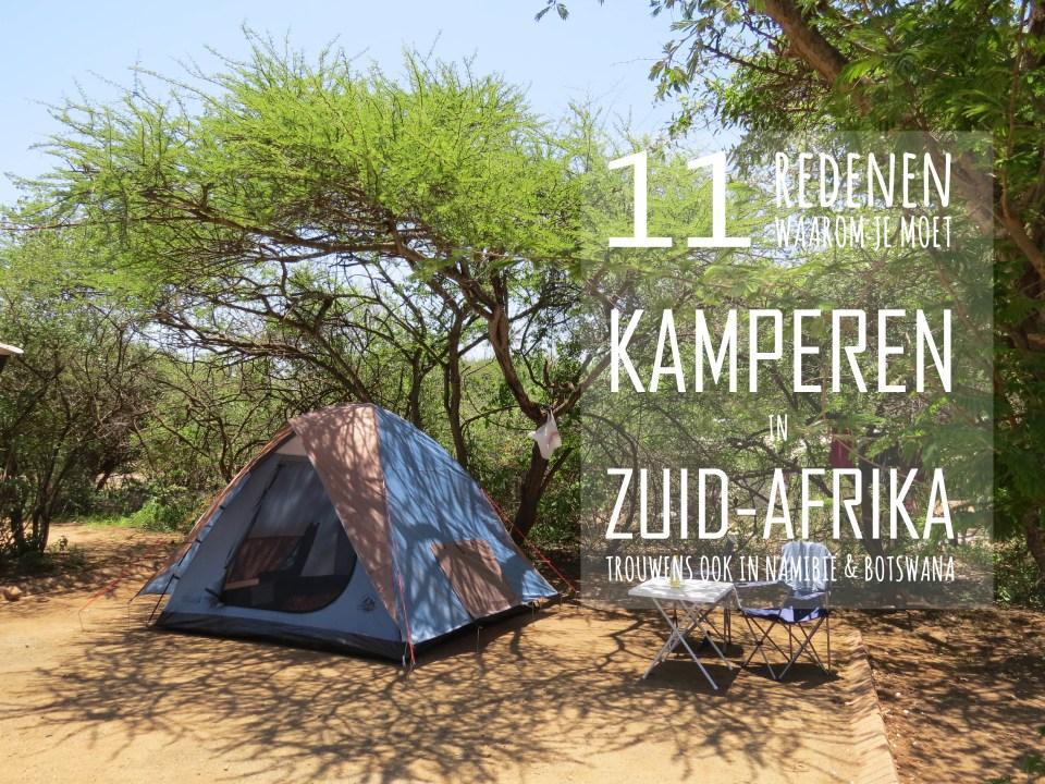 Kamperen Zuid-Afrika Namibi:e en Botswana