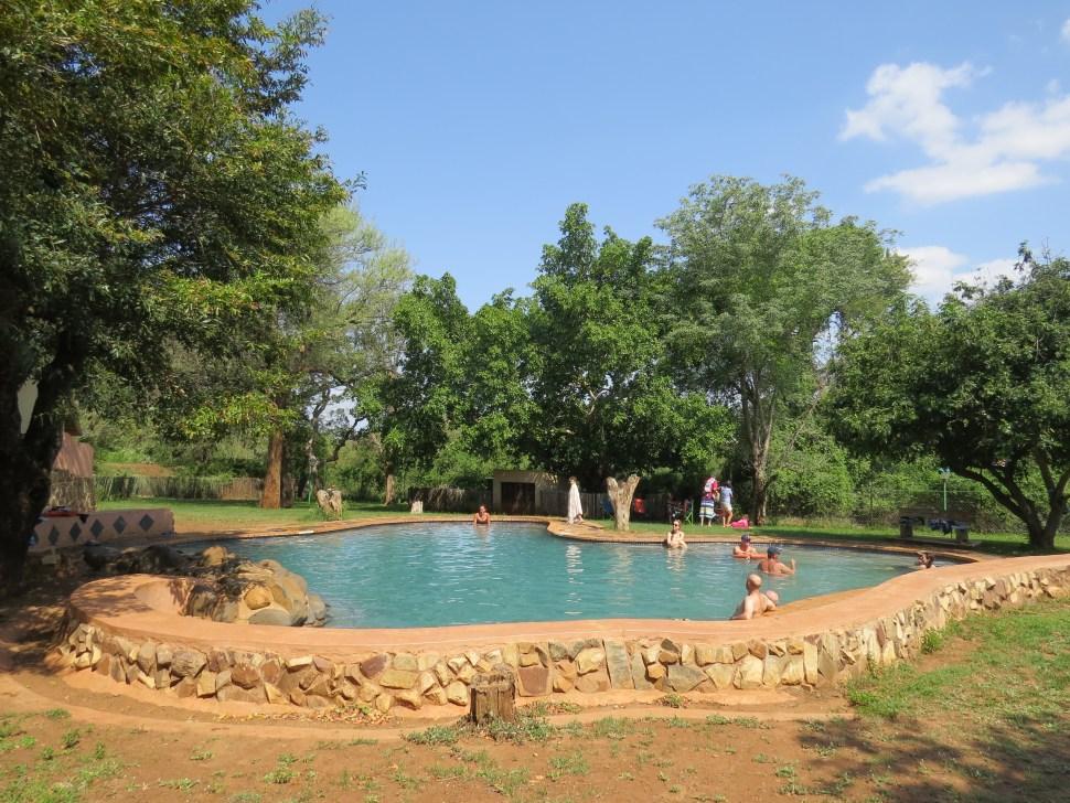 Kamperen in Lower Sabie Krugerpark Zuid-Afrika