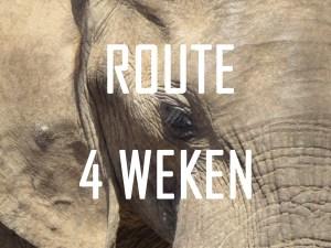 Route van 4 weken door Zuid-Afrika