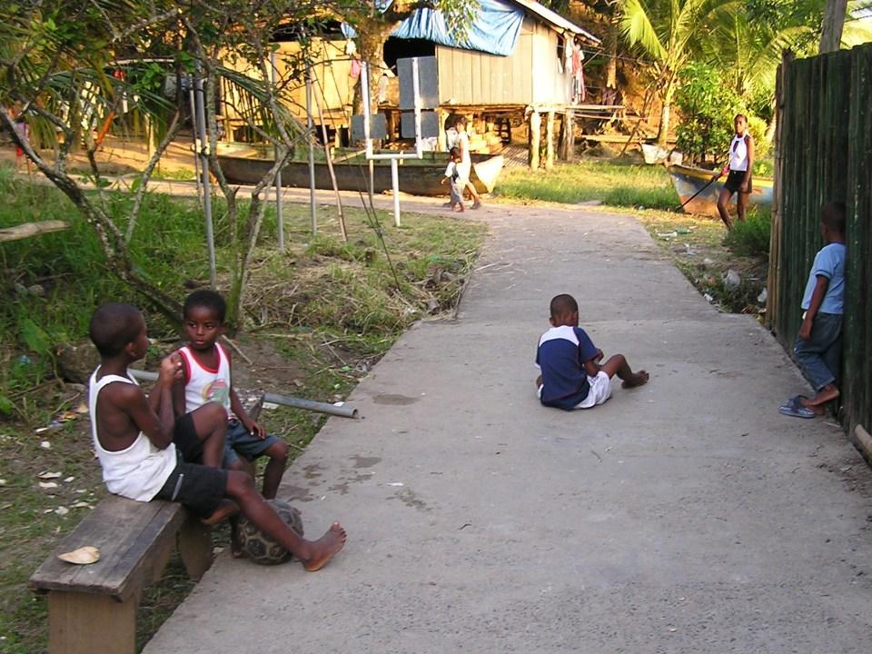 Straatbeeld Bocas del Toro Panama