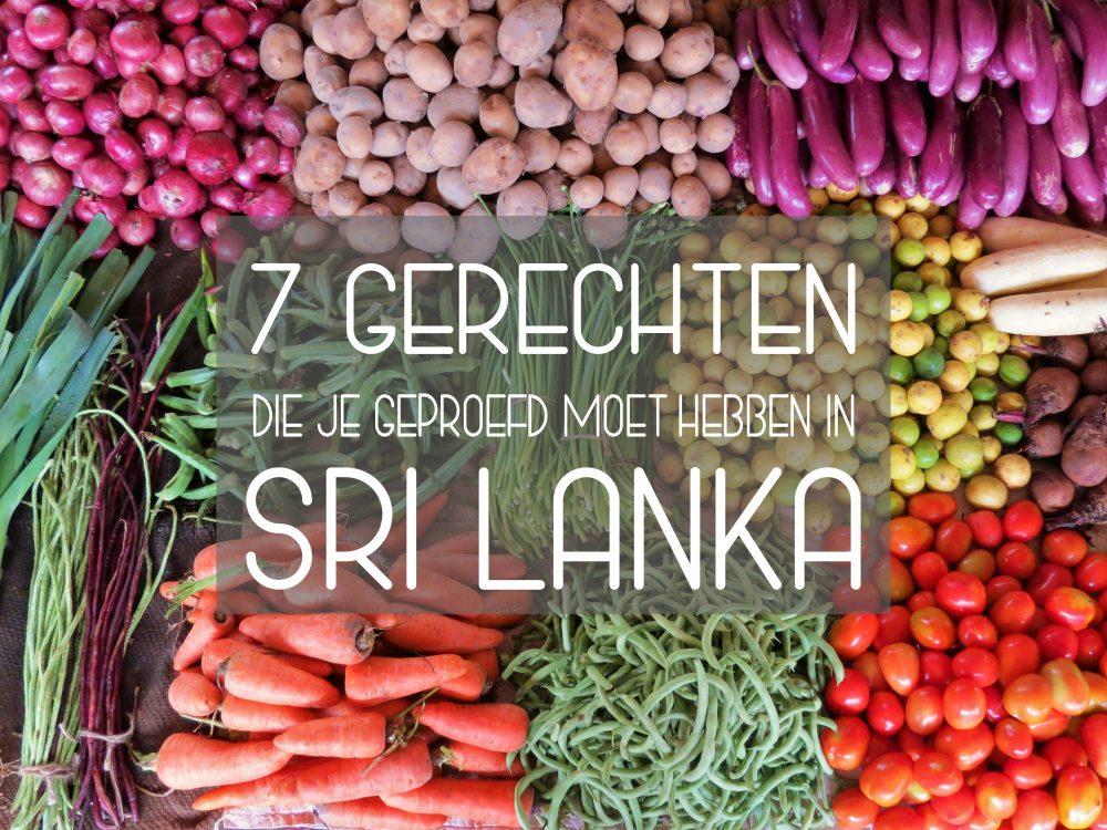 Gerechten eten Sri Lanka
