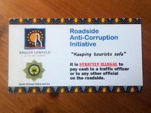 Politie corruptie Zuid-Afrika