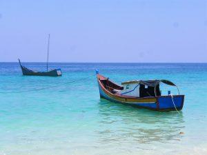 Vissersbootjes Pulau Weh Sumatra Indonesie