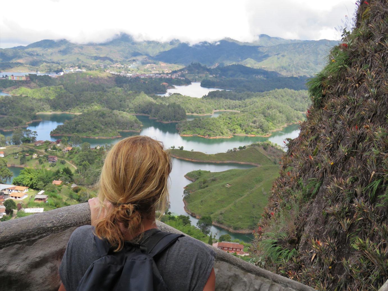 Uitzicht vanaf La Piedra de Guatape Colombia
