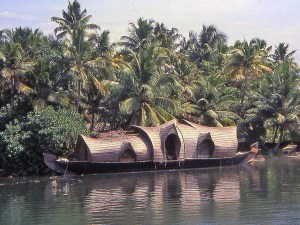Backwaters in Cochin in India