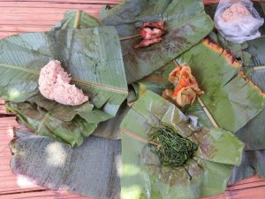 Eten in Nam Ha NP Laos
