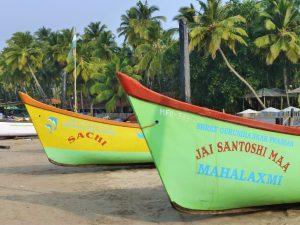 Vissersbootjes Palolem Goa India