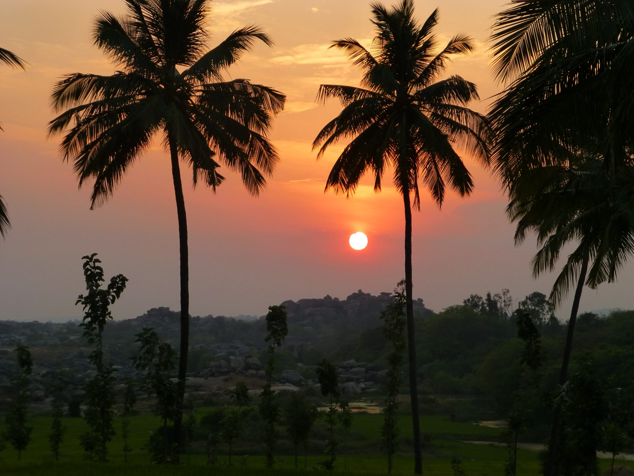 zonsondergang Hampi India