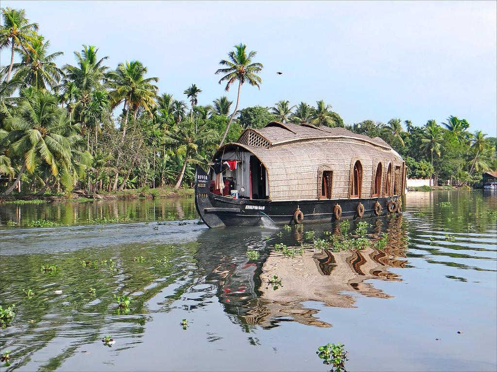Houseboat backwaters Kerala India