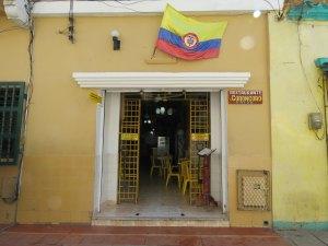 Lokaal restaurant Getsemani Cartagena Colombia