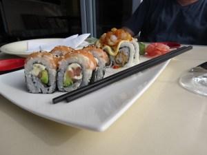 Sushi eten Camps Bay Kaapstad Zuid-Afrika