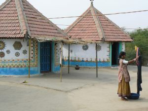 Huisjes in Kutch Gujarat India