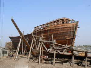 Scheepsbouw in Mandvi Gujarat India