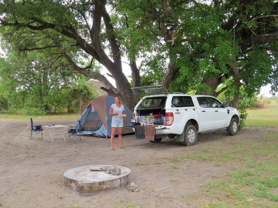 Kamperen in Moremi NP Botswana